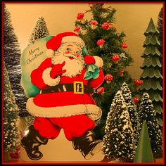 Vintage Christmas Candy Box