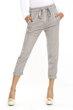 AG Jeans Paper Bag Pleated Crop Pant In Sulfur Calyx -These would look great on @riza Ferro