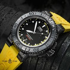 @oriswatch have just given their Aquis Depth Gauge a fresh new look. To find out more, including why Oris left a hole in the crystal - head to the site ️ #oris #basel #basel2015