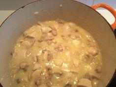 blanc de poulet, champignon, bouchée feuilletée, beurre, farine, bouillon, crème fraîche, jus de citron, poivre, Sel, riz