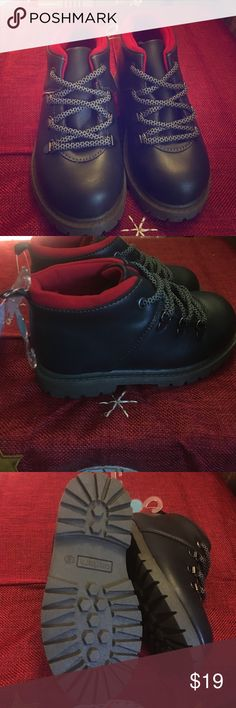 NWT Carter's Boots size 9 NWT Carter's mountain boots for boys black with deep red lining and two tone shoe laces Carter's Shoes Boots