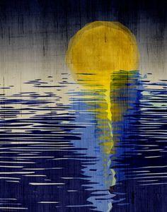 Moonrise... Art Print by LuckySkye on Etsy