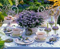 Forget Me Not tea party.