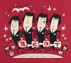The Sixties Twist: Vintage Illustrators: Derek Yaniger