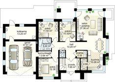 Wiesiołek II G2 projekt - Parter 127.16 m² + garaż 31.81 m²