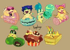 The Koopalings and dessert!!!