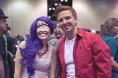 Futurama cosplay. Drew and I did Halloween as Leela and Fry once.. I need to dig up pics.