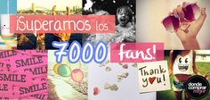 ¡Estamos muy muy contentas y no podemos parar de sonreír!  ¡Ya somos más de 7.000, acompañanos vos también! PORQUE LA MODA TAMBIÉN PUEDE SER ACCESIBLE.