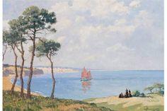 """Marcel Jacquier  """" La Baie de Douarnenez"""" huile sur panneau 41x58cm"""