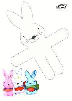 Χειροτεχνίες krokotak - tzeni skorda Easter Art, Easter Crafts For Kids, Easter Bunny, Bunny Bunny, Children Crafts, Spring Crafts, Holiday Crafts, Bunny Crafts, Rabbit Crafts