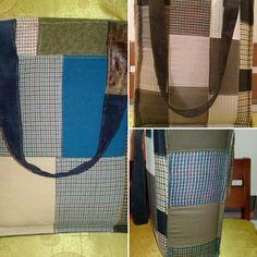 Bolso reutilizable, lavable a máquina, plegable y con tirantas reforzadas. #upcycling #totebag #shoppingbag #patchwork #savetheplanet #hipster