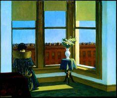 "twenty4hundred: "" Edward Hopper - Room in Brooklyn (1931) """