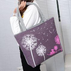 Sale New 2016 Fashion Dandelion Canvas Bag Flowers Women Handbag Shoulder Bags Women Messenger Bags
