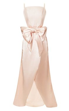 Cinched Bow Wrap Gown by  for Preorder on Moda Operandi