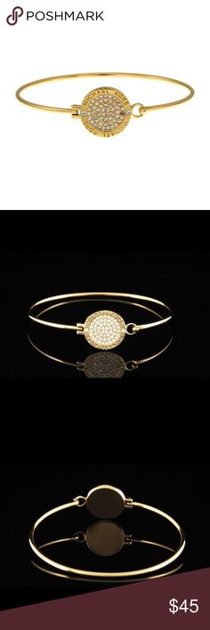 Michael Kors Bangle Gold pave crystal Authentic Michael Kors Bangle. Never used, purchase and never wore. New without tags. Michael Kors Jewelry Bracelets