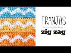 PUNTO ZIG ZAG en franjas de colores a CROCHET   TUTORIAL PASO A PASO · Ahuyama Crochet - YouTube