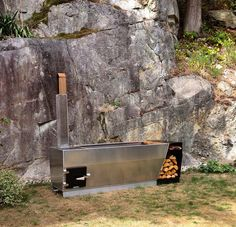 ox + monkey wood fired outdoor soaking tub