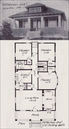1000 images about vintage house plans 1900s on pinterest for 1900 bungalow house plans