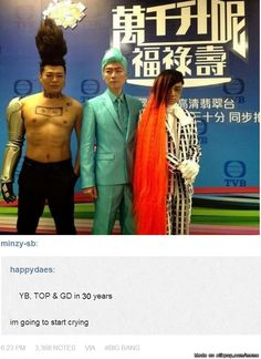 Are we not going to talk about the fact that Taeyang's hair grew AGAIN??! XD