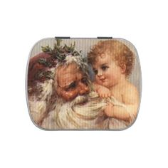 Vintage Santa and Baby Jelly Belly Tins