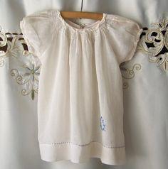 Vintage Baby Dress 1950s White Baby Dress Retro by cynthiasattic