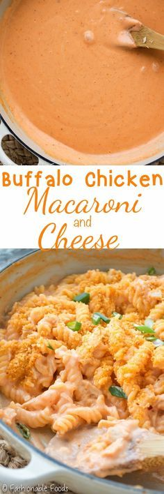 My new favorite way to enjoy the flavors of buffalo chicken! This stovetop buffalo chicken macaroni and cheese is sure to please all chicken wing lovers. It's spicy, creamy, crunchy, and oh-so-comforting! {This recipe is gluten-free, but can easily be adapted if you don't need it to be gluten-free!}
