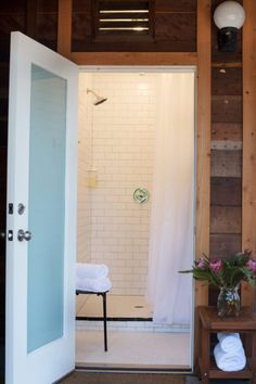 There is an onsite communal bath house with private showers, EO body care products, cotton towels, bathrooms, and all the necessities. (Courtesy photo)