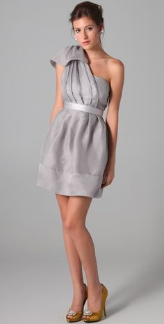 Organza One Shoulder Dress