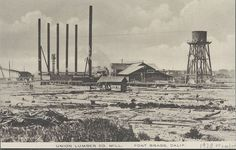 1920 or earlier. Lumber Mill, Mendocino County, Left Coast, Fort Bragg, Coworking Space, 16 Year Old, Old West, Northern California, Vintage Photography