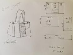 Come realizzare la borsa shopper – Anna Borrelli Blog Couture, Bag Pattern Free, Diy Tote Bag, Diy Handbag, Handmade Purses, Denim Bag, Shopper Bag, Small Bags, Leather Craft