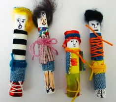 Helmi Coenders, 21.07.2014 Worry Dolls, Creative Play, Elementary Art, Softies, Puppets, Art Lessons, Art For Kids, Helmet, Arts And Crafts