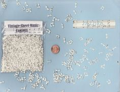 Tiny handmade music note confetti hand punched from by GrrlPickers, $3.00