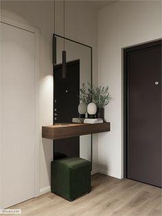 Home Room Design, Home Interior Design, Living Room Designs, House Design, Home Entrance Decor, House Entrance, Entryway Decor, Hall Interior, Apartment Interior