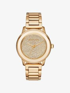 307d329a15428 Find the Kinley Pavé Gold-Tone Watch by Michael Kors at Michael Kors.  Michael