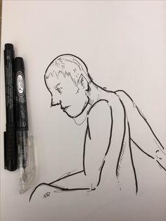 Fine porous point pen (Pentel Finto), and marker pen.