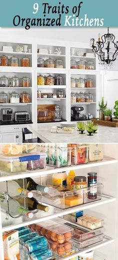 9 Traits of an Organized Kitchen • Lots of tips and ideas for organizing your kitchen!