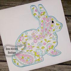Simple Bunny applique - Beau Mitchell Boutique