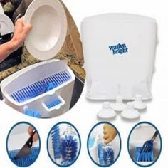 Easy Dish Dishwasher Time Saving Wash and Bright Easy go Portable Household Unique Device. Hate improvement the dishes? Wash N Bright is that the best..