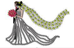 Bride embroidery design/ Applique embroidery design/ Patchwork