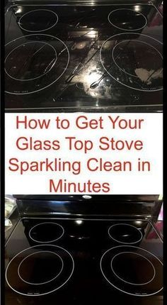 to Get Your Glass Stovetop Sparkling Clean in Minutes Cleaning hack to clean your glass stove in just a few minutes.Cleaning hack to clean your glass stove in just a few minutes. Household Cleaning Tips, Deep Cleaning Tips, Toilet Cleaning, House Cleaning Tips, Natural Cleaning Products, Cleaning Solutions, Cleaning With Baking Soda, Cleaning Recipes, Household Cleaners