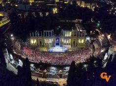 Teatro romano de Mérida nocturno