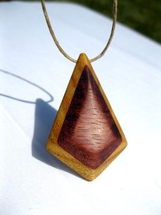 Diamond Wood Pendant - Canarywood and Purpleheart ($48.00)