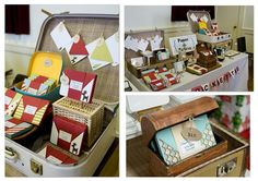 Craft Show Displays Ideas | Craft Design Ideas OG-Loving the vintage suitcase!