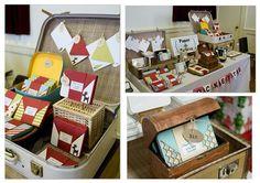 Craft Show Displays Ideas   Craft Design Ideas  OG-Loving the vintage suitcase!