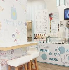 {INSPIRED BRANDING} I came across this very cute smoothie shop in Rome - I loved the Japanese style illustration influences and its light, bright colours which target smoothie lovers and their playful inner child. #inspiredbranding