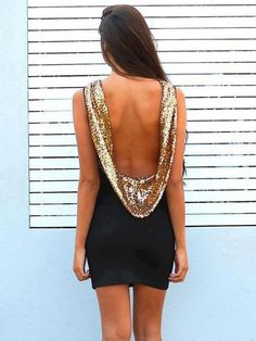 Black & Gold dress to go out - 35 Clubbing/Party Dresses