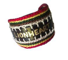 Lionheart WordSound Faux Leather Crochet by LionessXpressions, $24.99