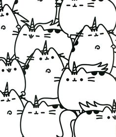 pusheen coloring book pusheen pusheen the cat kids coloringcoloring sheetsadult