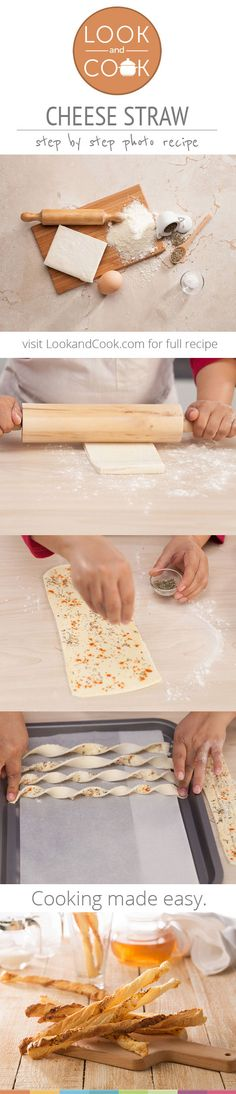 CHEESE STRAW RECIPE Cheese Straw (#LC14085) : Cheese straw is a great party snack combining shredded cheese with butter, flour and salt and it is the traditional food of Southern United States.