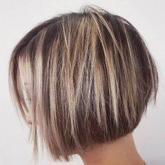 Blunt Bob Haircuts, Bob Hairstyles For Thick, Back To School Hairstyles, Cool Haircuts, Layered Hairstyle, Hairstyles 2018, Braided Hairstyles, Thin Straight Hair, Thin Hair Cuts